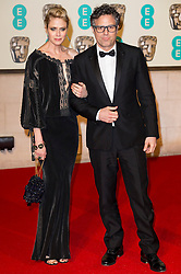 © Licensed to London News Pictures. 14/02/2016. London, UK. SUNRISE COIGNEY and MARK RUFFALO arrive on the red carpet for the EE British Academy Film Awards 2016 after party held at Grosvenor House . London, UK. Photo credit: Ray Tang/LNPPhoto credit: Ray Tang/LNP