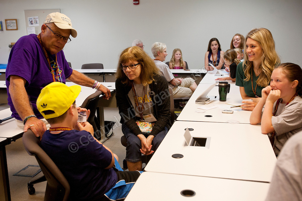 Alumni Grandparents bring their children to CMU to experience a number of learning exercises to get them pumped about college. Grandparents interact with their grandchildren and learn together.