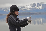 Felisa Wolfe-Simon at Mono Lake, California, where collected the GFAJ-1 bacterium. Her paper in the journal Science, which suggested that the microbe could substitue arsenic for phosphorus, generated significant controversy in the scientific community.