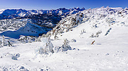 The Minarets from Mammoth Mountain Ski Area, Mammoth Lakes, California USA