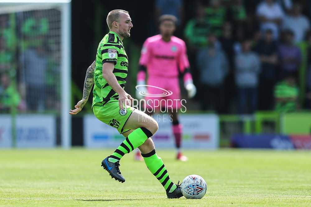 Forest Green Rovers Carl Winchester(7) on the ball during the EFL Sky Bet League 2 match between Forest Green Rovers and Grimsby Town FC at the New Lawn, Forest Green, United Kingdom on 17 August 2019.