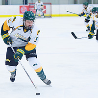 2nd year forward Jaycee Magwood (5) of the Regina Cougars in action during the Women's Hockey Game on November 25 at Co-operators arena. Credit: Arthur Ward/Arthur Images