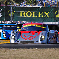 Flying Lizard Motorsports competing in the Rolex 24 at Daytona 2011
