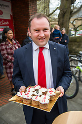 Pictured: Ian Murray with cakes baxcking the Labour campaign<br /> <br /> Scottish Labour&rsquo;s Ian Murray and Scottish Labour leader Kezia Dugdale hit the general election campaign trail in Edinburgh today for the first campaign event of Mr Murray&rsquo;s re-election campaign for the Edinburgh South constituency.<br /> Ger Harley | EEm 21 April 2017
