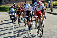 Sykkel<br /> Foto: PhotoNews/Digitalsport<br /> NORWAY ONLY<br /> <br /> 31.03.2015<br /> Kristoff Alexander (Team Katusha) is leading the escape pack during the 1st stage of the 3 Days of De Panne - Koksijde cycling race with start in De Panne and finish in Zottegem, Belgium.