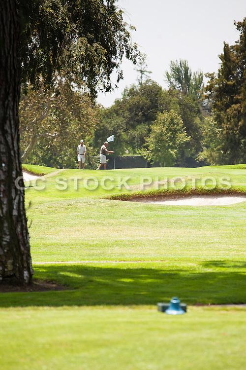 Golfers at San Gabriel Country Club