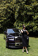 Como, Italy, Concorso d'eleganza Villa D'este, posing  with a Rolls-Royce Phantom, sponsor with BMW of the event