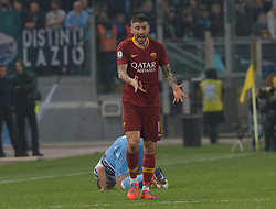 March 2, 2019 - Rome, Lazio, Italy - Aleksandar Kolarov of AS Roma reacts during the Italian Serie A football match between S.S. Lazio and A.S Roma at the Olympic Stadium in Rome, on march 02, 2019. (Credit Image: © Silvia Lore/NurPhoto via ZUMA Press)