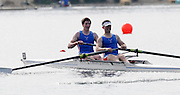 Eton, United Kingdom.  Men's Pair, Bow, Tim CLARKE and George ROSSITER.  Sat. time trial.  2011 GBRowing Trials, Dorney Lake. Saturday  16/04/2011  [Mandatory Credit; Peter Spurrier/Intersport-images] Venue For 2012 Olympic Regatta and Flat Water Canoe events.