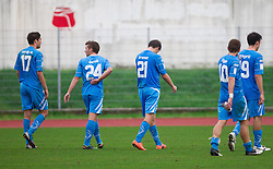 Players of Gorica during football match between ND Gorica and NK Triglav in 16th Round of PrvaLiga NZS 2012/13 on November 3, 2012 in Nova Gorica, Slovenia. (Photo By Vid Ponikvar / Sportida)