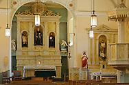 Interior of San Felipe de Neri Church, Albuquerque Old City,New Mexico,