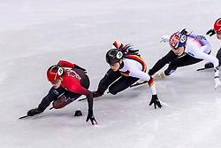 22-02-2018 KOR: Olympic Games day 13, PyeongChang<br /> Short Track Speedskating / Kim Boutin of Canada, Bianca Walter of Germany