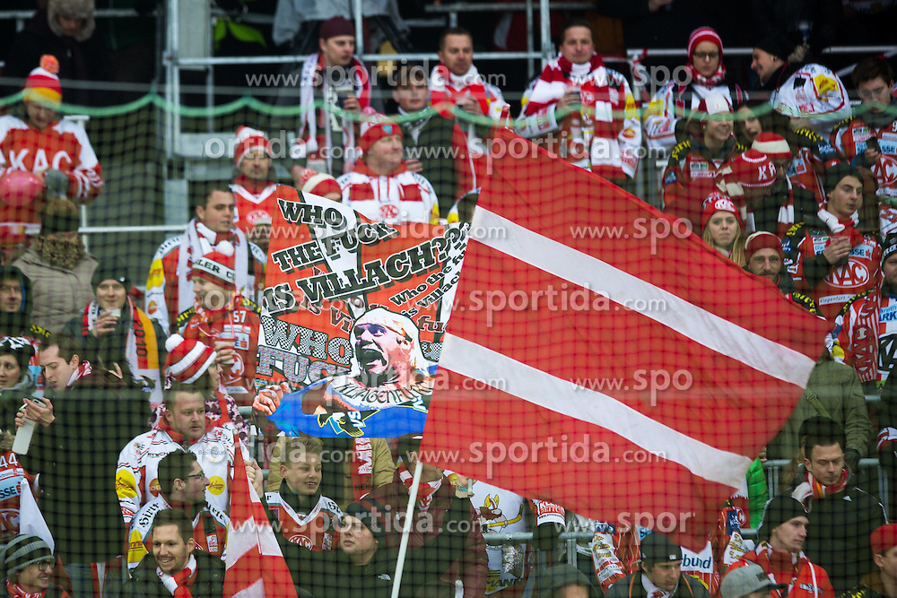 03.01.2015, W&ouml;rthersee Stadion, KLagenfurt, AUT, EBEL, EC KAC vs EC VSV, 40. Runde, Winter Classic, im Bild Fans of KAC // during the Erste Bank Icehockey League 40th round match betweeen EC KAC and EC VSV at the W&ouml;rthersee Stadion in KLagenfurt, Austria on 2015/01/03. EXPA Pictures &copy; 2015, PhotoCredit: EXPA/ Sportida/ Matic Klansek Velej<br /> <br /> *****ATTENTION - OUT of SLO, FRA*****