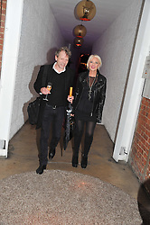 AMANDA ELIASCH and TIM WILLIS at a party to celebrate the Kelly Hoppen and Smallbone kitchen range held at The Collection, 264 Brompton Road, London on 24th September 2012.