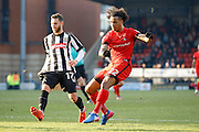 Leyton Orient midfielder Sandro Semedo (22) has a shot on goal during the EFL Sky Bet League 2 match between Leyton Orient and Notts County at the Matchroom Stadium, London, England on 18 February 2017. Photo by Andy Walter.