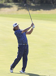 October 20, 2018 - Jeju, SOUTH KOREA - Oct 20, 2018-Jeju, South Korea-PAT PEREZ of USA action on the 5th green during the PGA Golf CJ Cup Nine Bridges Round 3 at Nine Bridges Golf Club in Jeju, South Korea. (Credit Image: © Ryu Seung-Il/ZUMA Wire)