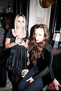 LULU WENTWORTH; CAMILLA AL FAYAD, Donatella Versace celebrates the launch of the CSM 20:20 Fund, at the Connaught Hotel, Mayfair, London, 11th November, 2010. -DO NOT ARCHIVE-© Copyright Photograph by Dafydd Jones. 248 Clapham Rd. London SW9 0PZ. Tel 0207 820 0771. www.dafjones.com.