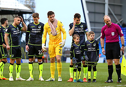 Tom Lockyer of Bristol Rovers stands with young mascots at Oldham Athletic - Mandatory by-line: Robbie Stephenson/JMP - 30/12/2017 - FOOTBALL - Sportsdirect.com Park - Oldham, England - Oldham Athletic v Bristol Rovers - Sky Bet League One