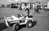 Rome  June 1999.Child romani Bosnian, in the Rom's camp  Casilino 700.