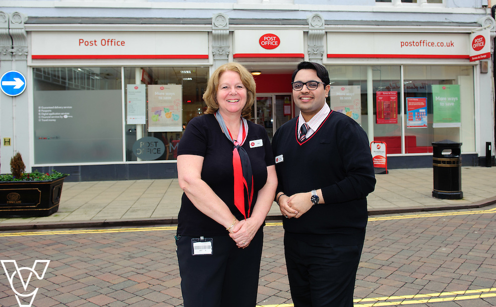 Pictured is Adeel Shabir, left, who nominated colleague Jane Sharpe, right, as a One Hero<br /> <br /> Jane Sharpe, who works at Peterborough Post Office, has been nominated as a One Hero by her colleague Adeel Shabir.  <br /> <br /> Date: February 4, 2016
