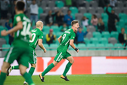 Tomislav Tomic, Andres Vombergar during football match between NK Olimpija Ljubljana and Aluminij in Round #9 of Prva liga Telekom Slovenije 2018/19, on September 23, 2018 in Stozice Stadium, Ljubljana, Slovenia. Photo by Morgan Kristan