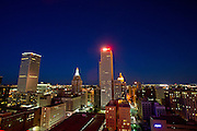 A view of downtown from The Penthouse Rooftop Lounge on top of the Mayo Hotel on Saturday, October 19, 2013, in downtown Tulsa, Oklahoma. <br /> <br /> themayohotel.com