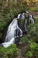 Steelhead Falls in the summer near the Reservoir Trail in the Hayward Lake Recreational Area in Mission, British Columbia, Canada