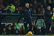 Sheffield United Manager Chris Wilder  during the EFL Sky Bet Championship match between Sheffield United and West Bromwich Albion at Bramall Lane, Sheffield, England on 14 December 2018.