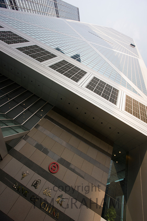 Bank of China office in financial district, Hong Kong, China