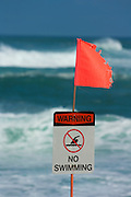 High surf warning at Sunset Beach, Oahu, HI