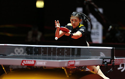 02.06.2017, Messe, D&uuml;sseldorf, GER, Liebherr Tischtennis WM, im Bild Maria Xiao (ESP) // during the Liebherr World Table Tennis Championships 2017 at the Messe in D&uuml;sseldorf, Germany on 2017/06/02. EXPA Pictures &copy; 2017, PhotoCredit: EXPA/ Eibner-Pressefoto/ Wuest<br /> <br /> *****ATTENTION - OUT of GER*****