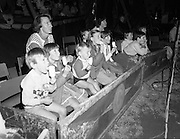 08.09.1984<br /> 09.08.1984.<br /> 8th September 1984.<br /> Chipperfield's circus performed before packed houses in Mullingar, Co Westmeath.<br /> <br /> Picture shows that even ice cream can't take away the childrens' attention as they look at the performance.