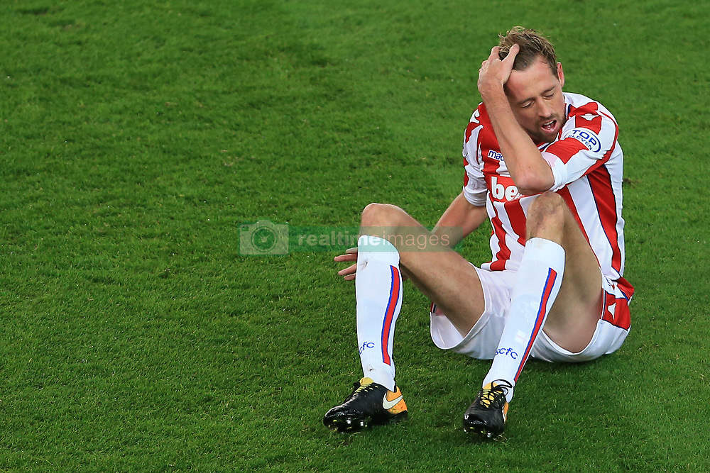 29th November 2017 - Premier League - Stoke City v Liverpool - Peter Crouch of Stoke looks dejected - Photo: Simon Stacpoole / Offside.