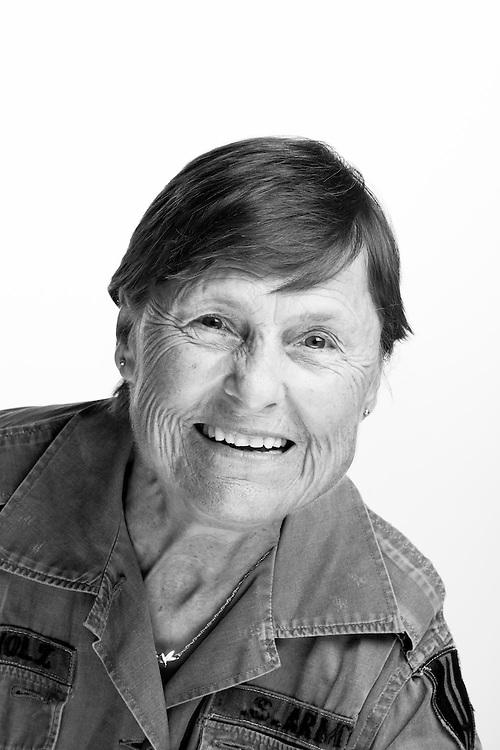 Brenda Sue Caldwell<br /> Army (WAC)<br /> E-6 (Spec 6)<br /> Personnel Management <br /> 1967 - 1970<br /> Vietnam<br /> <br /> Veterans Portrait Project San Antonio, Texas