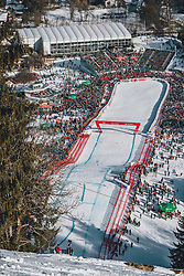 24.01.2020, Streif, Kitzbühel, AUT, FIS Weltcup Ski Alpin, SuperG, Herren, im Bild Ansicht Zielsack // General View of the Finish in action during his run for the men's SuperG of FIS Ski Alpine World Cup at the Streif in Kitzbühel, Austria on 2020/01/24. EXPA Pictures © 2020, PhotoCredit: EXPA/ JFK