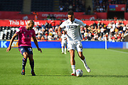 Courtney Baker-Richardson (46) of Swansea City on the attack during the EFL Sky Bet Championship match between Swansea City and Queens Park Rangers at the Liberty Stadium, Swansea, Wales on 29 September 2018.