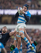 Twickenham, United Kingdom. Matias ALEMANNO, collecting the line out ball, during the Old Mutual Wealth Series Rest Match: England vs Argentina, at the RFU Stadium, Twickenham, England, <br /> <br /> Saturday  26/11/2016<br /> <br /> [Mandatory Credit; Peter Spurrier/Intersport-images]