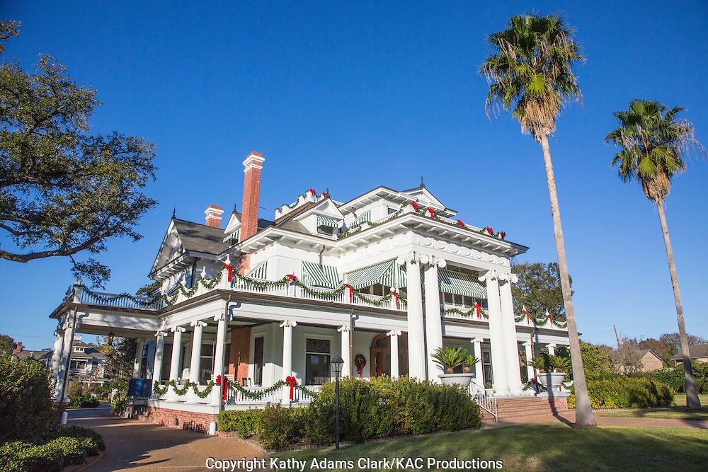 The McFaddin-Ward House on Calder Avenue in Beaumont, Texas, is open for tours.  The home is one of many built by prominent citizens of the town in the early 20th century.