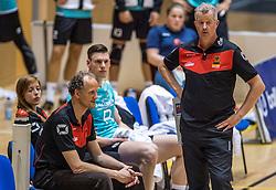 04-06-2016 NED: Nederland - Duitsland, Doetinchem<br /> Nederland speelt de tweede oefenwedstrijd in Doetinchem en verslaat Duitsland opnieuw met 3-1 / Ass. Coach Redbad Strikwerda, Coach Vital Heijnen