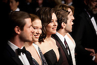 Gaspard Ulliel, Léa Seydoux, Marion Cotillard, Xavier Dolan, at the gala screening for the film It's Only the End of the World (Juste La Fin Du Monde) at the 69th Cannes Film Festival, Thursday 19th  May 2016, Cannes, France. Photography: Doreen Kennedy