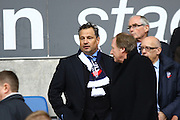 Bolton new owner Dean Holdsworth during the Sky Bet Championship match between Bolton Wanderers and Preston North End at the Macron Stadium, Bolton, England on 12 March 2016. Photo by Pete Burns.