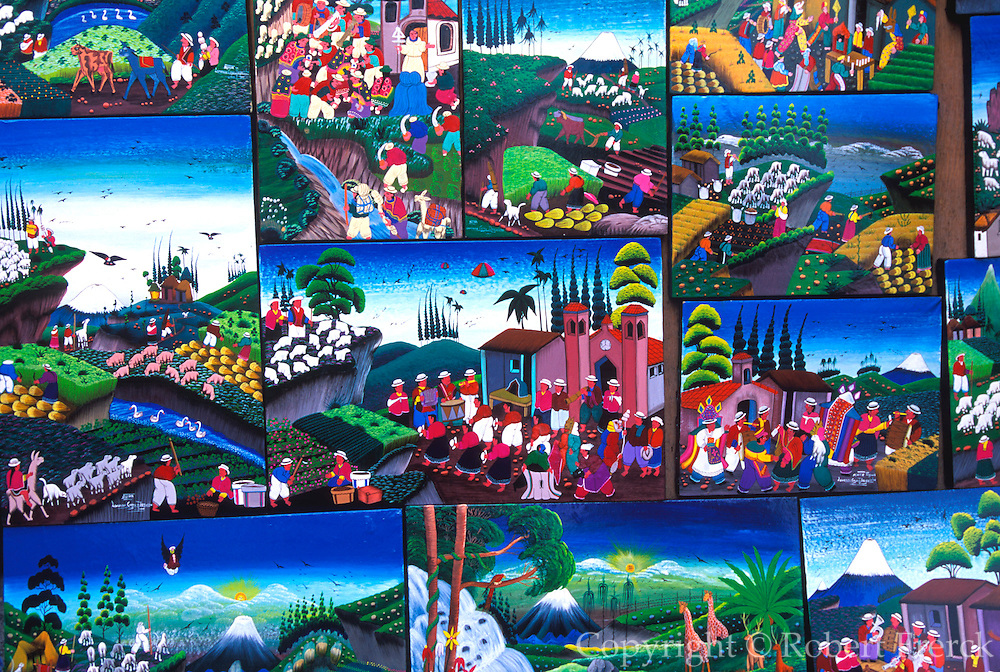ECUADOR, MARKETS and CRAFTS Otavalo famous for textiles and crafts