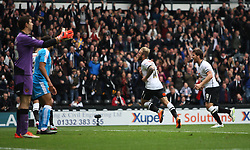 Johnny Russell of Derby County (C) celebrates scoring his sides fourth goal - Mandatory byline: Jack Phillips / JMP - 07966386802 - 18/10/2015 - FOOTBALL - The iPro Stadium - Derby, Derbyshire - Derby County v Wolverhampton Wanderers - Sky Bet Championship