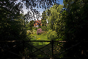 Grounds of old rectory now the Rivendell Buddhist Retreat Centre, East Sussex, England.