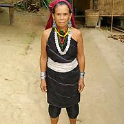 Portrait of Karen Long Ear Woman Long Ear Hill Tribe, Thailand Mae Hong Son
