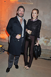 MAT COLLISHAW and POLLY MORGAN at a dinner hosted by Jonathan Saunders, Fantastic Man & Selfridges to celebrate Jonathan Saunders AW13 Menswear collection and London Collections held at the Old Selfridges Hotel,  Orchard Street, London on 8th January 2013.