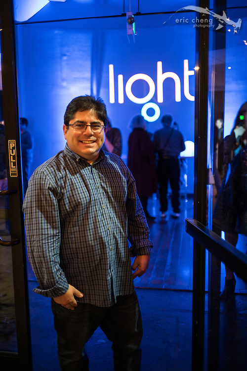 Michael Rubin, Light's Director of Marketing. Light.co L16 camera launch party at Terra Gallery in San Francisco