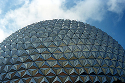 Disney World's renowned Friendship Earth . Note: This image was originally produced on film and scanned to produce a digital file.  Some dust may be visible from that scan