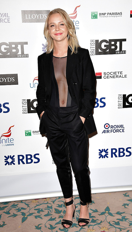 Georgia Henshaw attends The British LGBT Awards at The Landmark Hotel, London on Friday 24 April 2015