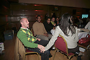 Rapt graduate: Spencer Coleshall and Melanie Rowan, THE RAPT QUIZ, 13 November  2006, Hammersmith Town Hall. ONE TIME USE ONLY - DO NOT ARCHIVE  © Copyright Photograph by Dafydd Jones 66 Stockwell Park Rd. London SW9 0DA Tel 020 7733 0108 www.dafjones.com